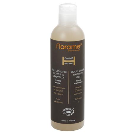 Sampon si gel de dus bio pentru barbati, 250 ml - Florame