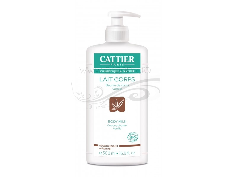 Lapte de corp hidratant vanilie si cocos, 500 ml - CATTIER
