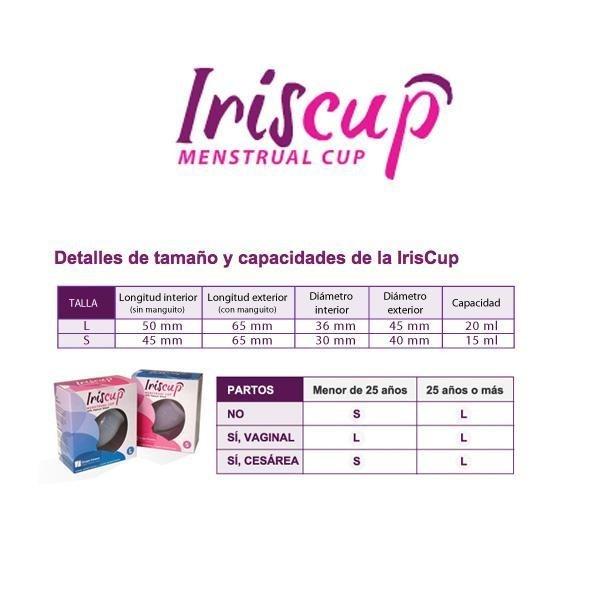 Cupa Menstruala (Marimea S) Transparenta- Iriscup