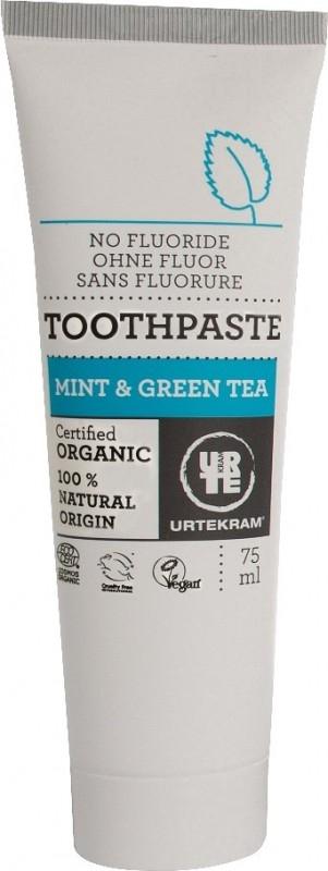 Pasta de dinti organica Ceai verde si Menta - Urtekram