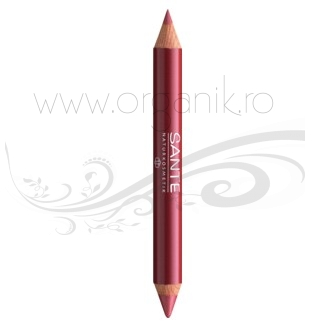 Ruj creion duo contur si stralucire, Natural Look 02 - SANTE NATURKOSMETIK