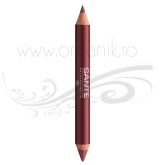 Ruj creion duo contur si stralucire, Glamorous Look 03 - SANTE NATURKOSMETIK