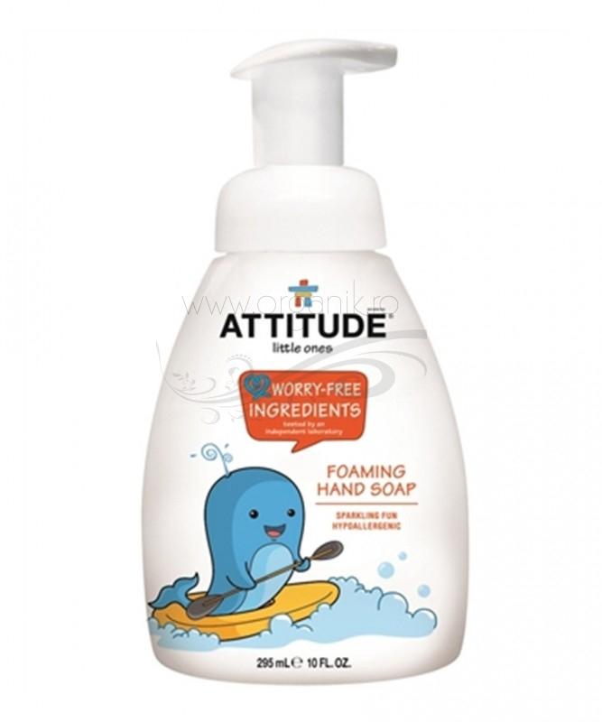 Sapun - spuma de maini pentru copii, Sparkling Fun, 295 ml - ATTITUDE