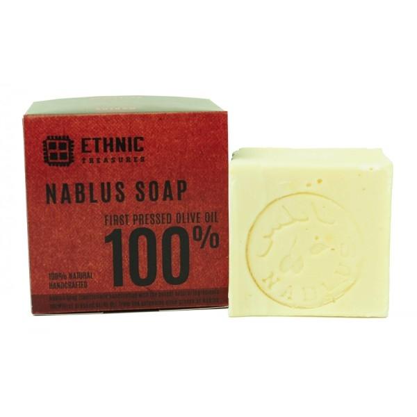 Sapun de Nablus cu 100% ulei de masline virgin, 125g - Ethnic Treasures
