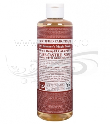 Sapun magic 18-in-1 Eucalipt, 473 ml - DR. BRONNER