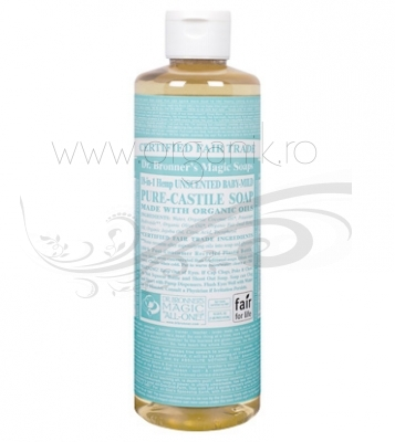 Sapun magic 18-in-1 Fara Parfum, pentru bebelusi si piele sensibila, 473 ml - DR. BRONNER