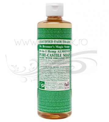 Sapun magic 18-in-1 Migdale, 473 ml - DR. BRONNER