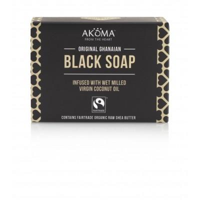 Sapun negru african autentic, din Ghana - Akoma Skincare