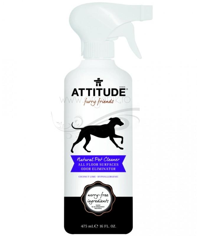 Solutie eco pentru curatarea & dezodorizarea suprafetelor - animale de companie, 475 ml - ATTITUDE