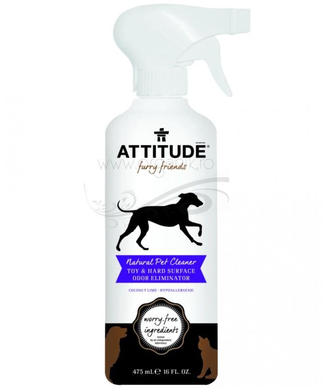 Solutie eco pentru curatarea & dezodorizarea jucariilor & suprafetelor - animale de companie, 475 ml - ATTITUDE