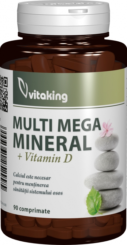 Multi Mega Mineral cu vitamina D, 90 comprimate - Vitaking