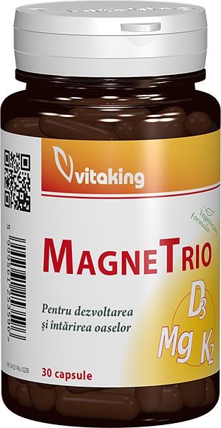 MagneTrio (Magneziu, vitamina K2, vitamina D3), 30 capsule - Vitaking