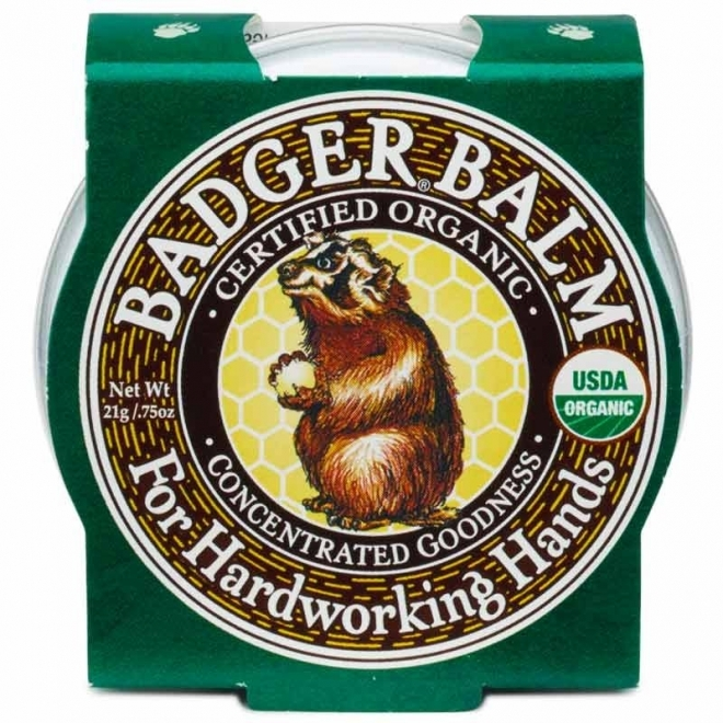 Mini balsam pentru maini crapate si muncite Hardworking Hands, 21g -  Badger