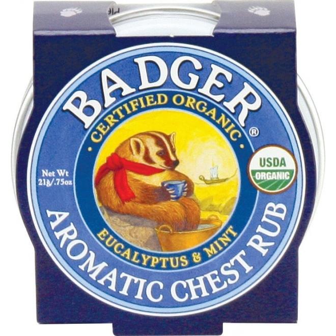 Mini balsam aromatic pentru respiratie si desfundarea nasului Chest Rub, 21g - Badger