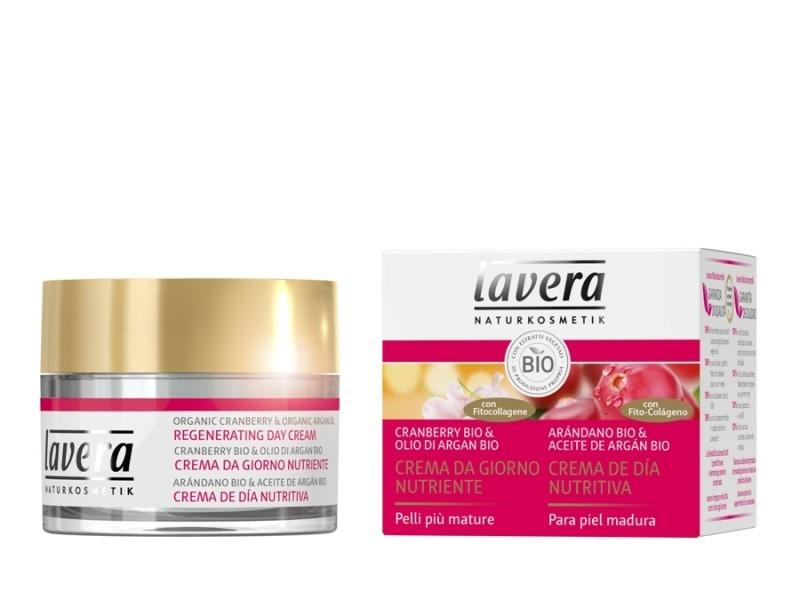Crema de zi antirid si regeneranta cu merisor si fitocolagen, 50 ml - LAVERA