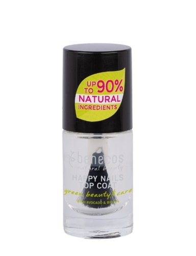 Lac de unghii top coat Crystal, 5 ml - Benecos