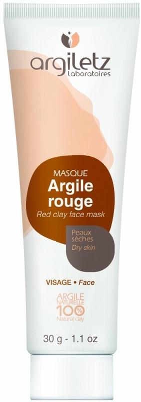 Masca din argila rosie pentru ten uscat, travel size 30g - Argiletz