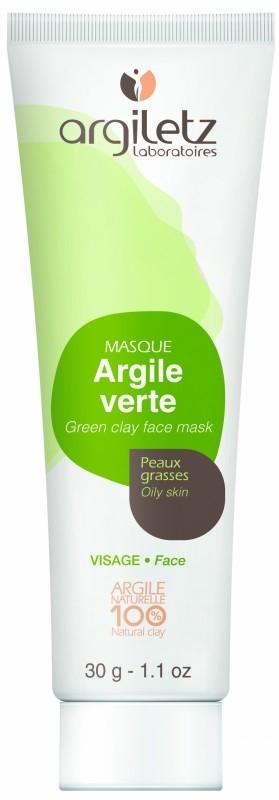 Masca din argila verde pentru ten normal sau gras, travel size 30g - Argiletz