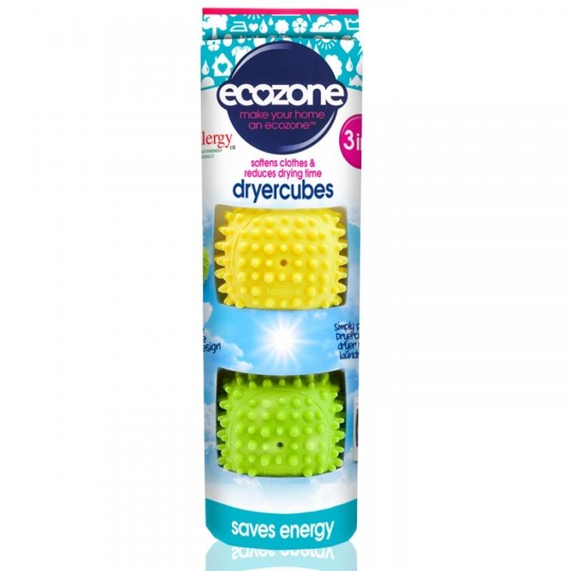 Dryer Cubes - Set cuburi 3 in 1, pentru uscare rapida si catifelarea hainelor, 2 buc - ECOZONE