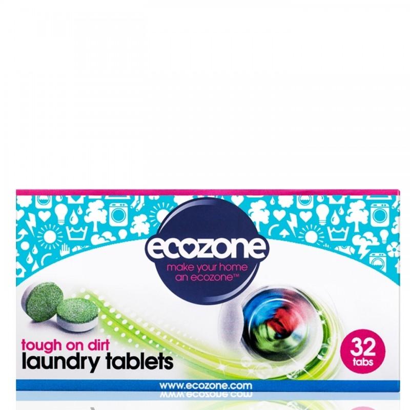 Detergent tablete efervescente pentru spalarea rufelor albe si colorate, 32 buc- ECOZONE