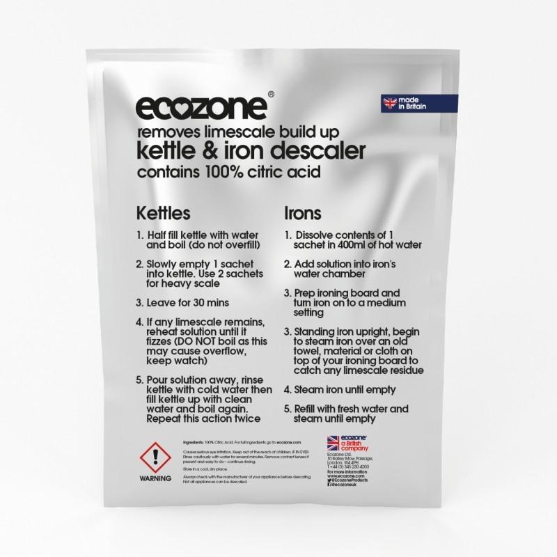 Detartrant pentru fierbator si fier de calcat, 3 buc - ECOZONE