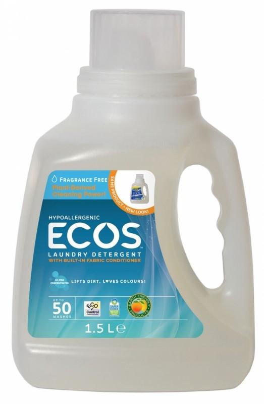 Detergent lichid pentru rufe FARA PARFUM, 1.5 litri - ECOS