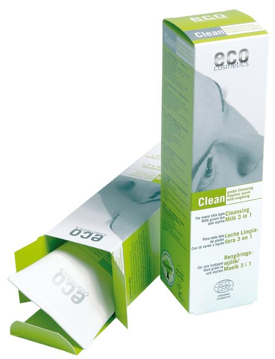 Demachiant bio 3 in 1 cu ceai verde, pentru toate tipurile de ten - Eco Cosmetics