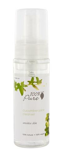Spuma demachianta cu suc de castravete, pentru ten sensibil - 100 Percent Pure Cosmetics