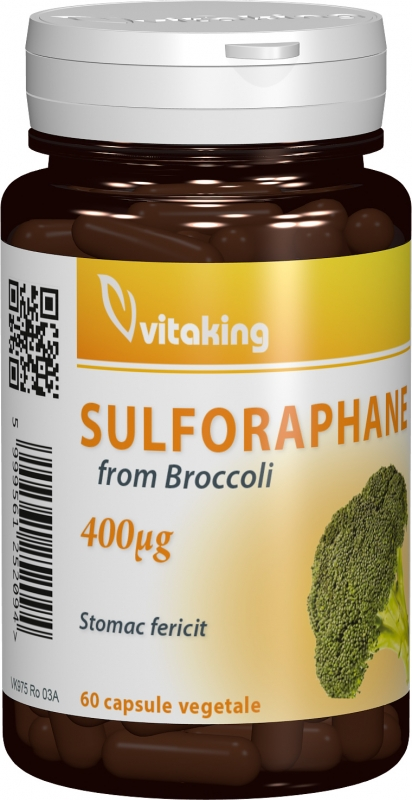 Sulforaphane din germeni de broccoli, 60 capsule - Vitaking