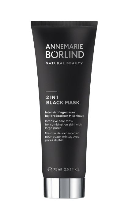 Masca intensiva 2in1 Black Mask pentru tenul mixt cu pori largiti, 75 ml - Annemarie Borlind