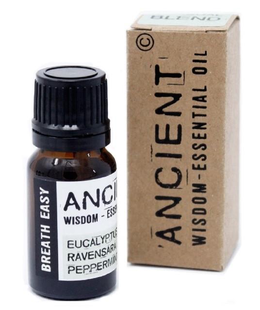 Amestec de uleiuri esentiale Breath Easy (eucalipt, ravensara, menta) 10ml - Ancient Wisdom Premium