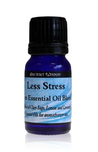 Amestec de uleiuri esentiale Less Stress (salvie, lamaie, lavanda) 10ml - Ancient Wisdom