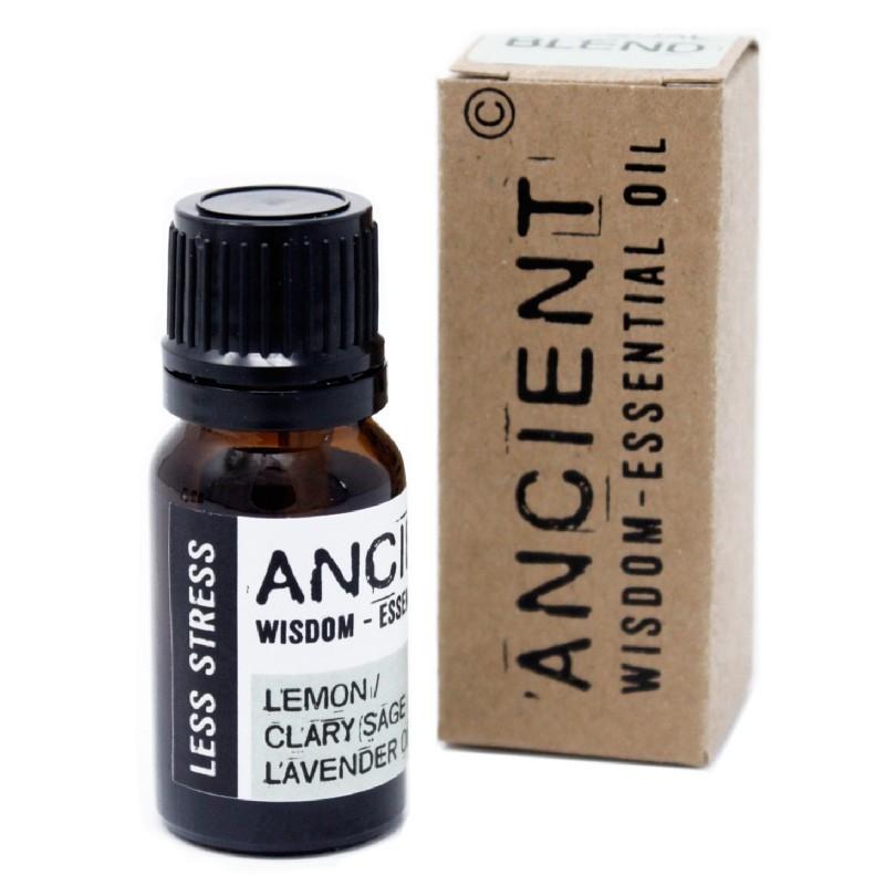 Amestec de uleiuri esentiale Less Stress (salvie, lamaie, lavanda) 10ml - Ancient Wisdom Premium