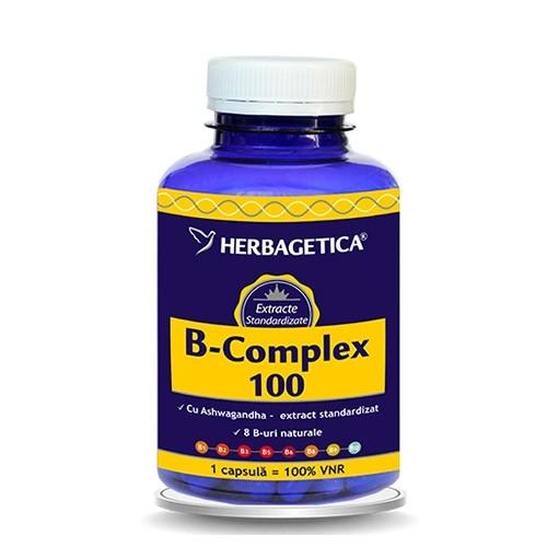 B Complex 100, 120 capsule - HERBAGETICA