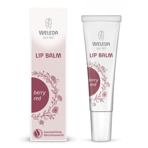 Balsam de buze-crema nuantat Berry Red, 10 ml - Weleda