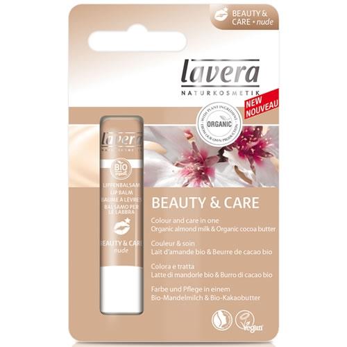 Balsam de buze nuantat Beauty&Care, Nude - LAVERA