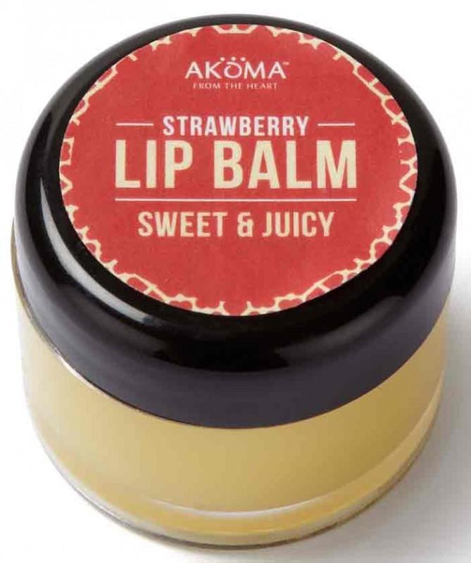 Unt de buze cu shea si aroma de capsuni, 10 ml - Akoma Skincare