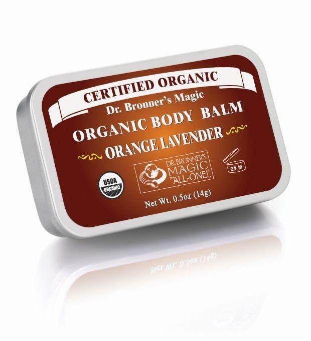 Balsam organic super hidratant fata si corp, Portocala & Lavanda, 14 g - DR. BRONNER