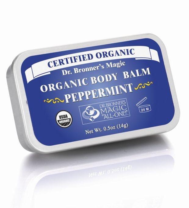 Balsam organic super hidratant fata si corp, Menta, 14 g - DR. BRONNER