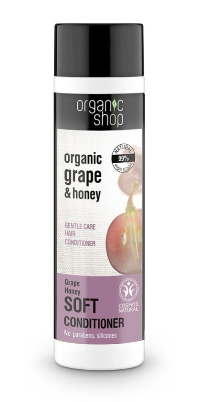 Balsam de par cu miere si struguri Grape Honey, 280 ml - Organic Shop