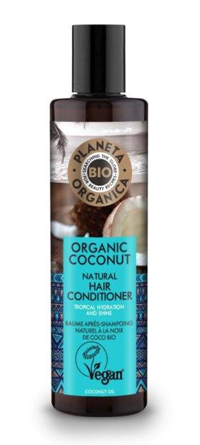 Balsam de par hidratant cu ulei de cocos, 280ml - Planeta Organica