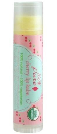 Balsam organic de buze cu aroma de cirese - 100 Percent Pure Cosmetics