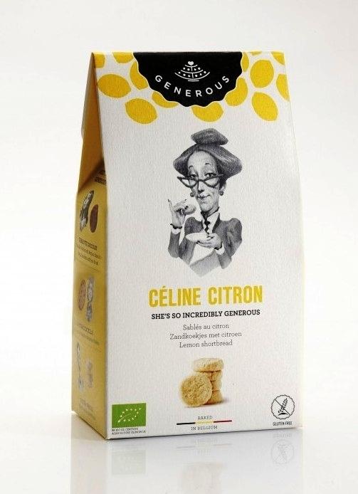 Biscuiti BIO crocanti cu unt si lamaie fara gluten Celine Citron, 120g - Generous