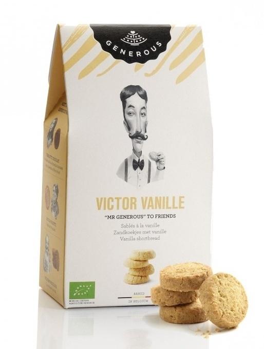 Biscuiti BIO crocanti cu unt si vanilie fara gluten Victor Vanille, 120g - Generous