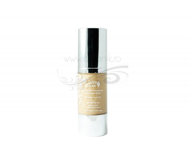 Crema hidratanta nuantatoare cu fructe, protectie solara FPS20,Peach Bisque -100 Pure Cosmetics