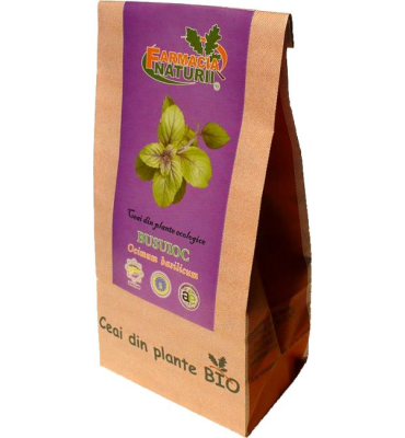 Ceai de busuioc bio, 30g - Farmacia Naturii