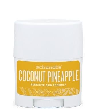 MINI Deodorant stick cu magneziu piele sensibila, Coconut Pineapple - Schmidts's Deodorant