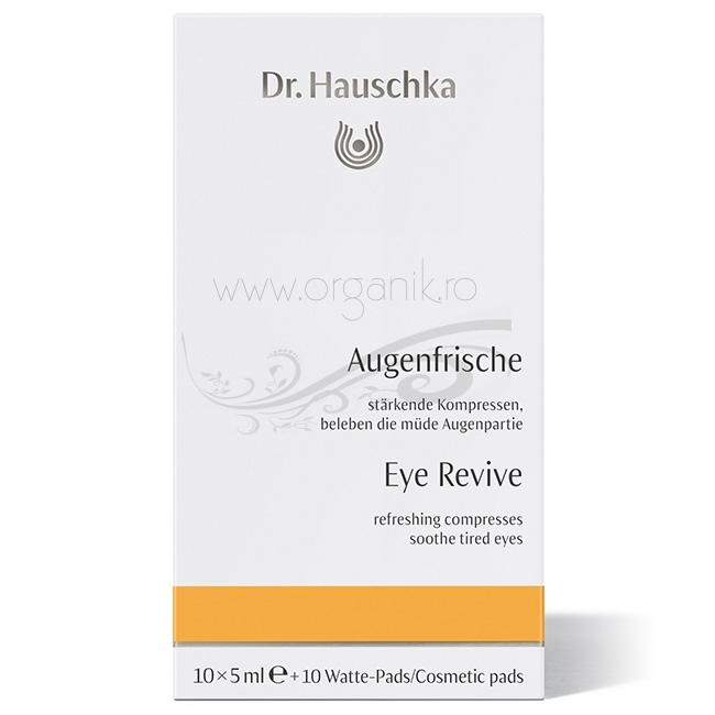 Comprese calmante pentru ochi obositi, 10 fiole - Dr. Hauschka