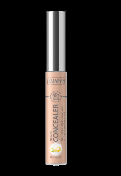 Corector bio cu coenzima Q10 pentru cearcane si roseata Honey 03, 5.5 ml - LAVERA