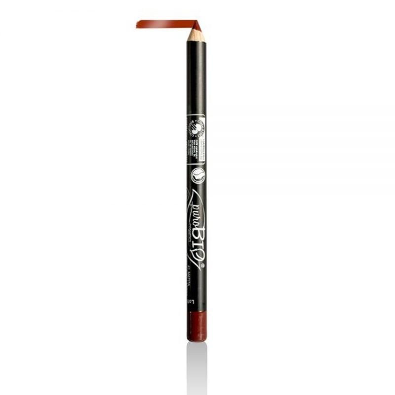 Creion bio contur ochi si buze Deep Red no.41 - PuroBio